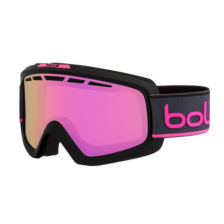 Горнолыжная маска Bolle Nova II - Matte Black & Neon Pink Rose Gold